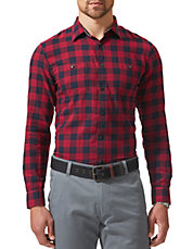 Checkered Wrinkle Flannel Shirt