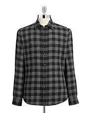 Gingham Twill Fitted Shirt