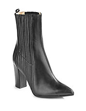 Jody Ribbed Leather Ankle Boots