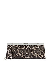 Lace Overlay Frame Clutch