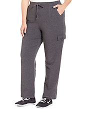 Plus French-Terry Cargo Lounge Pants