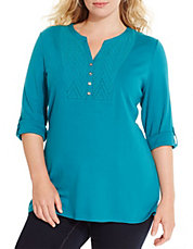 Plus Eyelet Bib Tunic