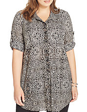 Petite Animal Print Tunic Shirt