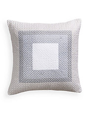 Quilted Geometric Cotton Cushion
