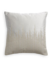 Silver Threaded Throw Pillow