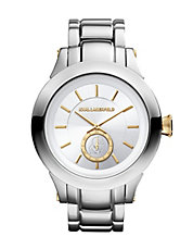 Karl Brushed Stainless Steel Watch