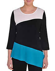 Colorblocked Asymmetrical Tunic