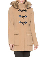 Essential Faux Fur Trim Toggle Coat