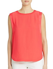 Solid Boxy Shell Top
