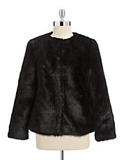 Faux Fox Fur Boxy Jacket