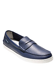 Pebbled Leather Penny Loafers