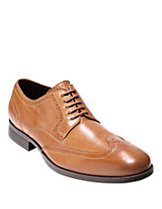 Leather Wingtip Derby Shoes
