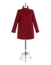 Two Buttons Walker Coat with Pocket Detail