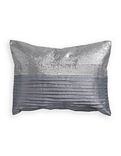 Sequined Pleat Decorative Cushion