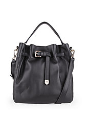 Expanded Leather Bucket Bag