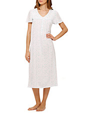 Printed Midi Nightgown