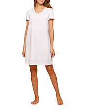Lavender Short Sleeve Nightgown