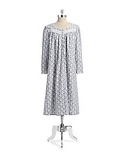 Flannel Print Nightgown