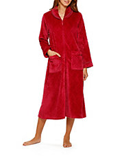 Plush Zip Lounge Robe