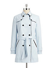 Contrast Piping Trench Coat