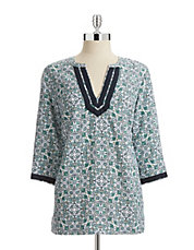 Linen Floral Tunic