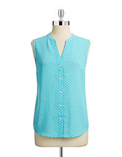 Sleeveless Polka Dot Top