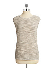 Petite Boat Neck Sleeveless Sweater