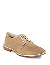 Grover Perforated Suede Oxfords