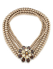 Floral Faux Pearl Necklace