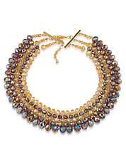 Beaded Multi-Row Collar Necklace