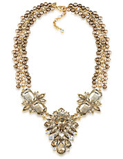 Front Cluster Statement Necklace
