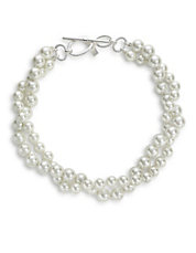 Glass Pearl Two Row Necklace