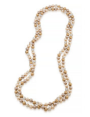 Cosmic Reflections 72 Inch Gold Tonal Rope Necklace