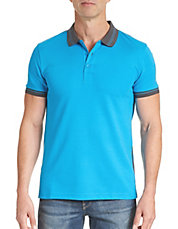 Slim-Fit Textured Polo