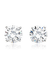 4.00 cttw Brilliant Cut Cubic Zirconia Stud Earring