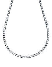 Classic Tennis Necklace With Brilliant Cubic Zirconia