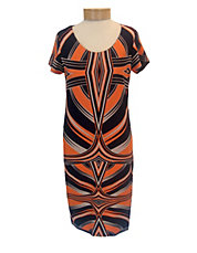 Graphic Print Ponte Dress