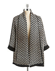 Duster Chevron Sweater Coat