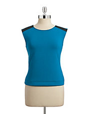 Colourblocked Shell Top