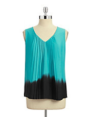 Pleated Dip Dye Blouse