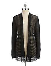 Open Stripe Knit Cardigan