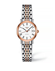 Analog Rose Gold and Stainless Steel Watch