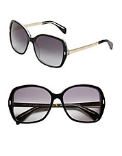 57mm Oversized Contrast Square Sunglasses