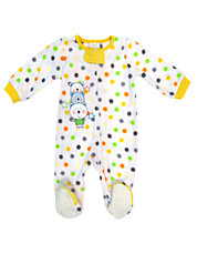 Polka Dot Bears Sleeper Footie