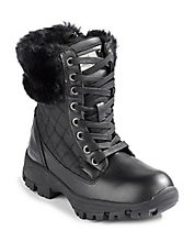 Waterproof Quilted Lace-Up Boots