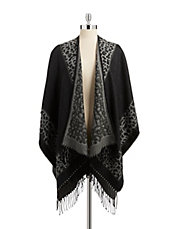 Fringed Animal Border Wrap