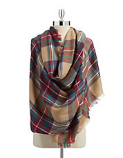 Stewart Plaid Wrap Scarf