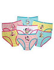 Girls 7 Pack Minnie Mouse Panties