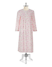 Floral Plaid Nightgown