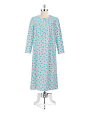 Floral Print Cotton Nightgown